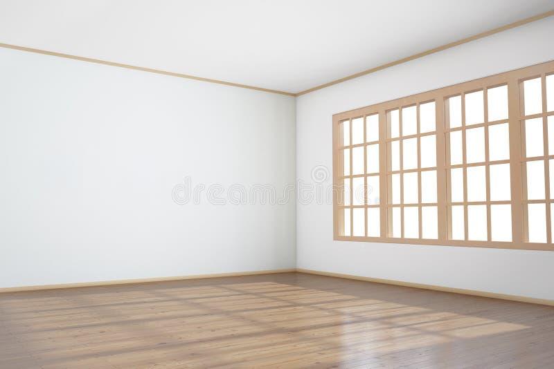 Vacie el sitio con la ventana grande foto de archivo