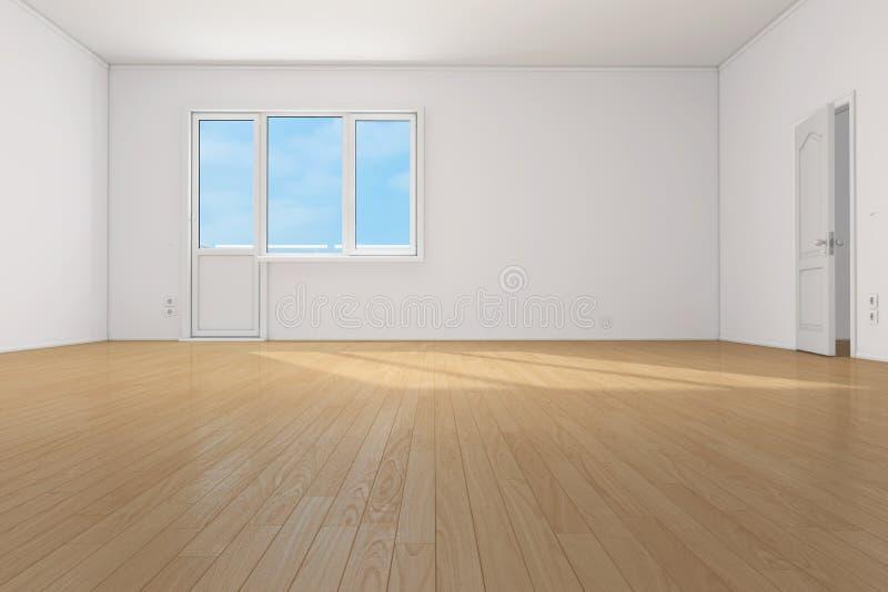 Vacie el sitio limpio en el apartamento stock de ilustración