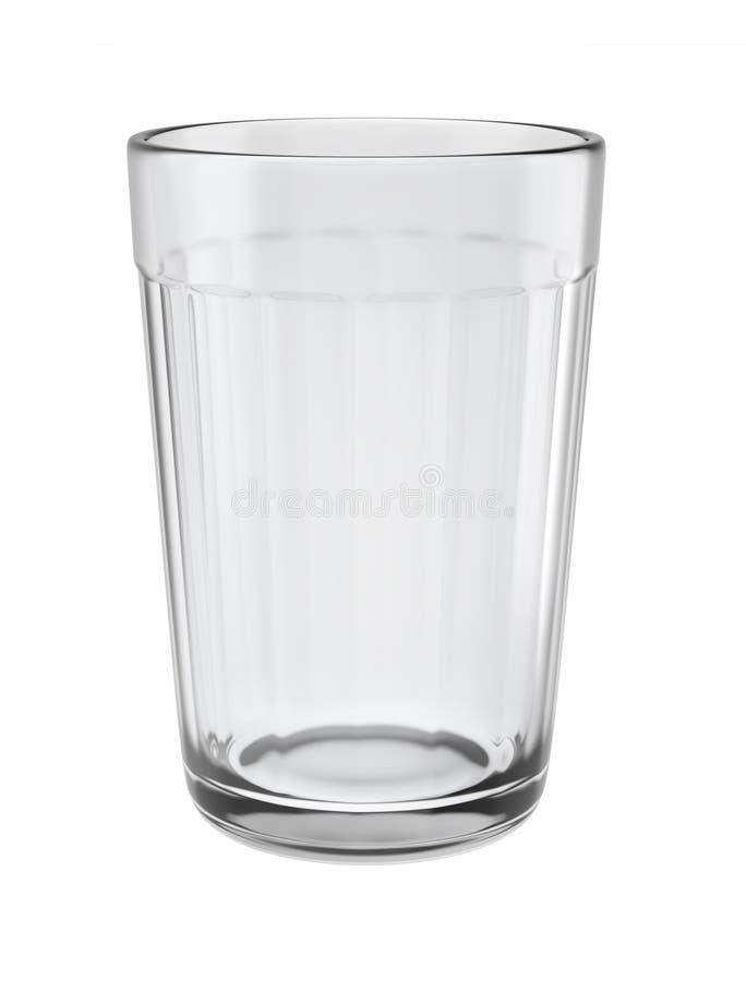 Vacie el vidrio tallado aislado en el fondo blanco stock de ilustración