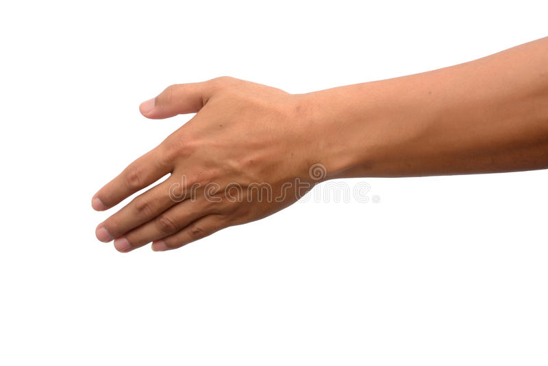 Vacie la mano abierta del hombre imagen de archivo