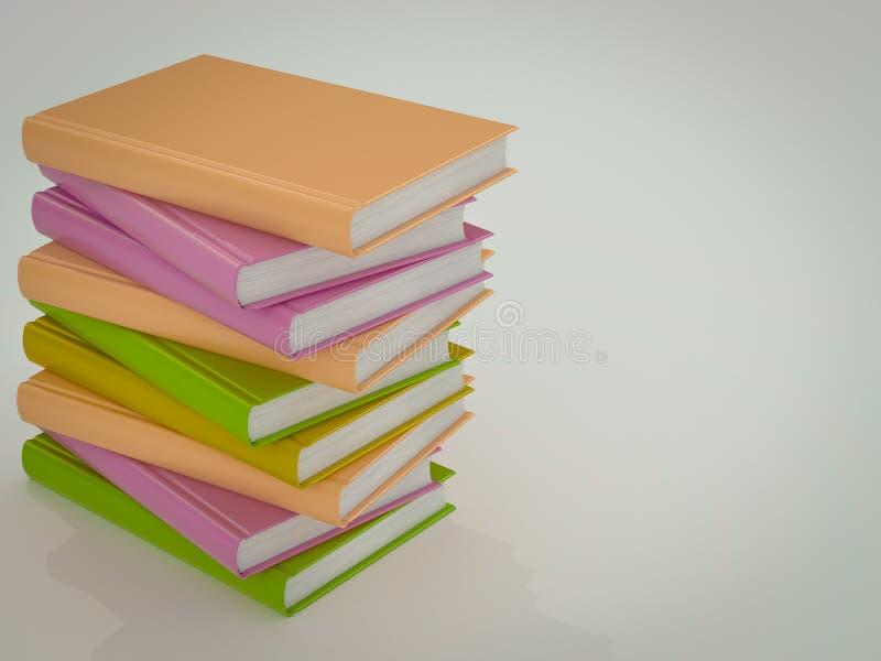Vacie La Plantilla Coloreada De La Maqueta De Los Libros De Alta ...