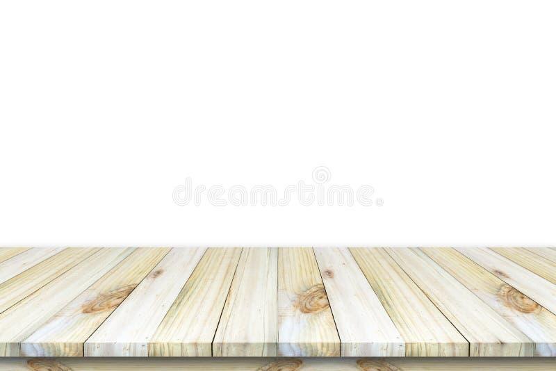 Vacie la vista superior de la tabla o contador y x28 de madera; shelf& x29; aislado en wh libre illustration