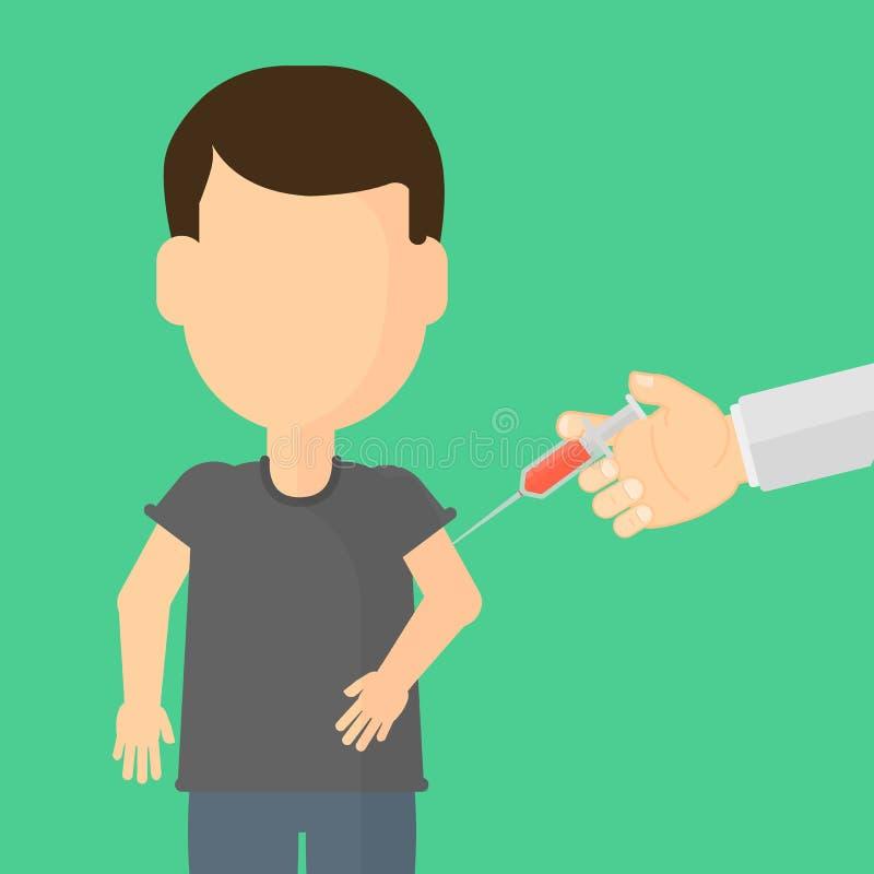 Vacinação das crianças ilustração stock