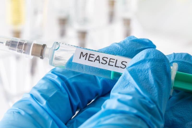 Vacinação de Measels fotografia de stock
