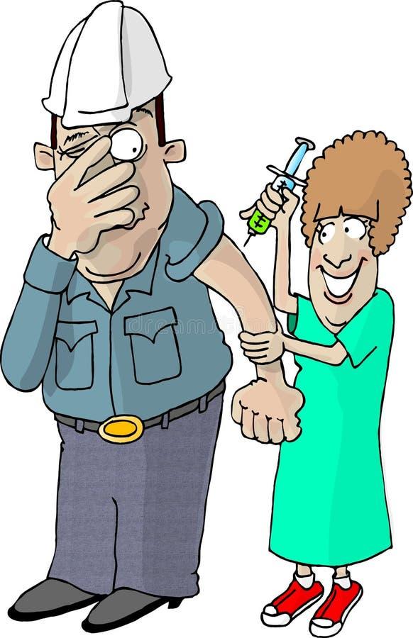 Vacina contra a gripe ilustração royalty free