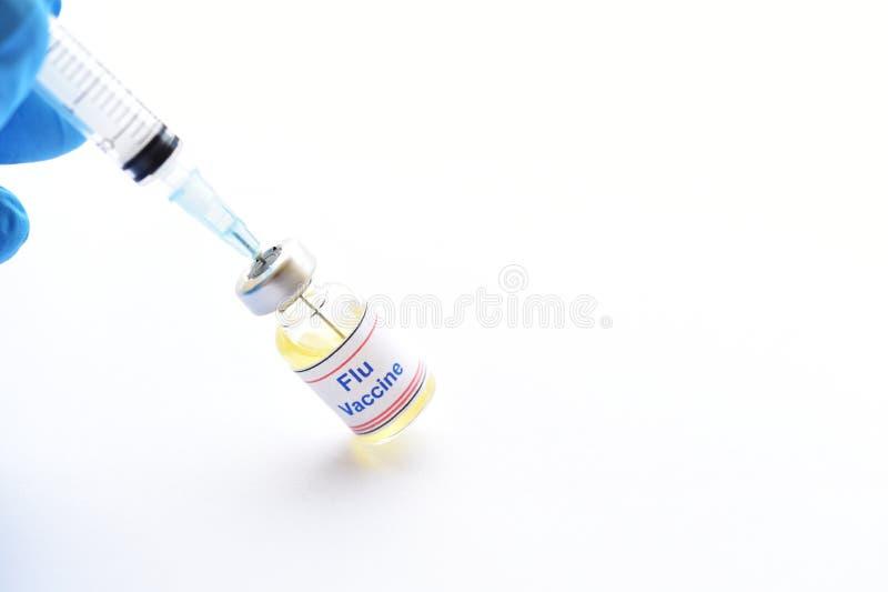 Vacina da gripe para a inje??o fotografia de stock royalty free