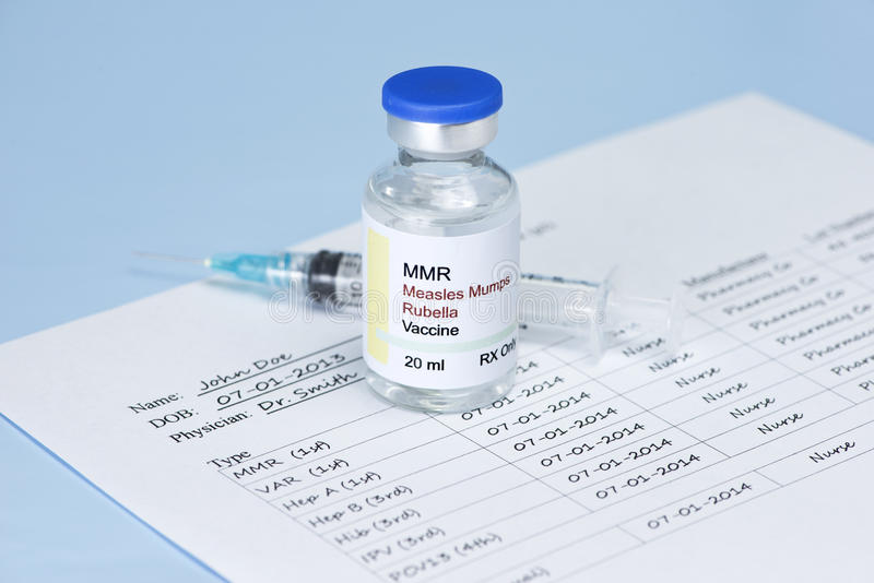 Vacina do MMR imagens de stock