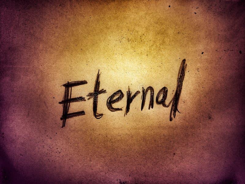 vackert skrivbordsunderlägg av ordet evigt skrivet av pennan royaltyfria bilder