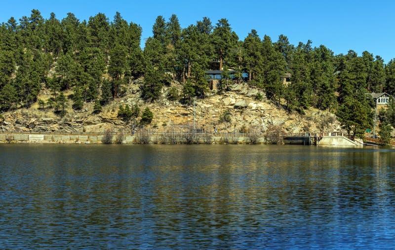 Vackra sjön i Colorado royaltyfria foton