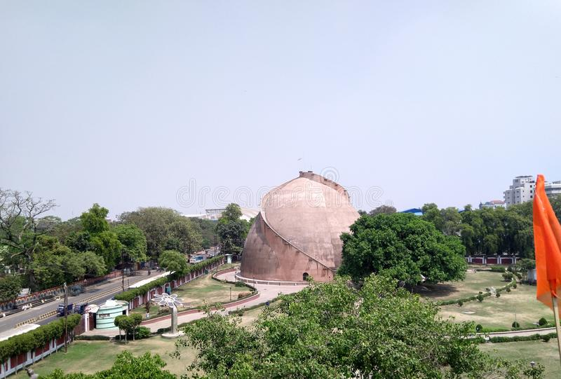 Vackra vyn av Golghar, Patna, Bihar, Indien fotografering för bildbyråer