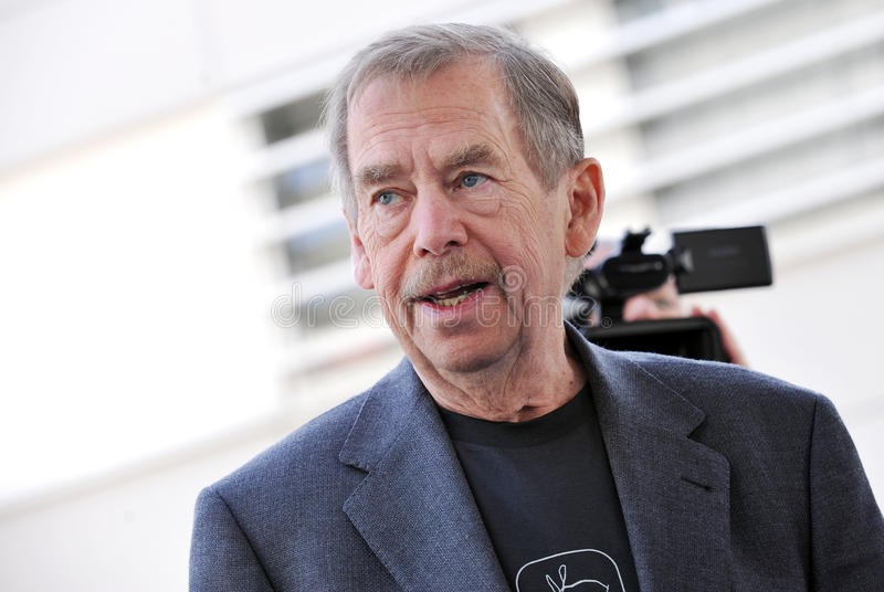 Vaclav Havel stock afbeelding