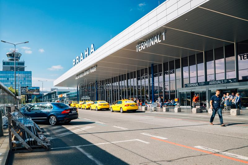 Vaclav Havel Airport Prague in Prague, Czech Republic royalty free stock images