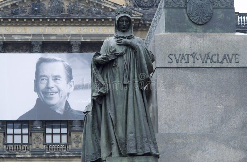 Vaclav Havel en St. Ludmila stock afbeelding