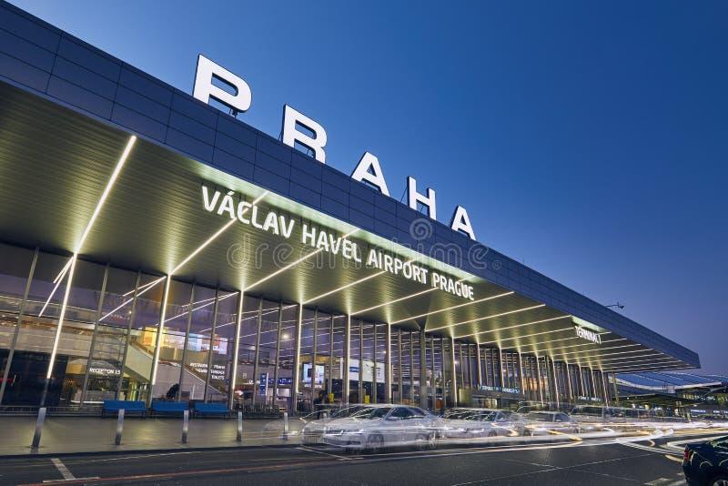 Vaclav Havel lotnisko Praga fotografia royalty free