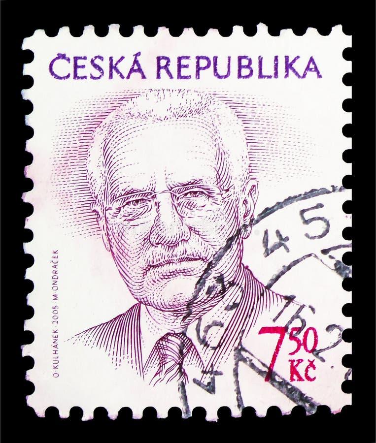 Vaclav Klaus (1941), президент, окончательное serie вопросов, около 2005 стоковые фотографии rf