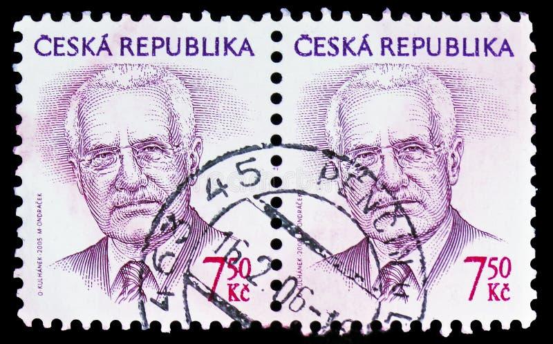 Vaclav Klaus (1941), президент, окончательное serie вопросов, около 2005 стоковое фото rf