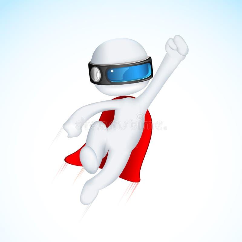 vactor för superhero 3d royaltyfri illustrationer