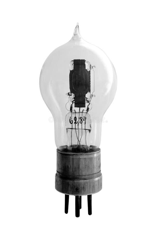 Vacuüm elektronische radiobuis Op witte achtergrond stock afbeeldingen
