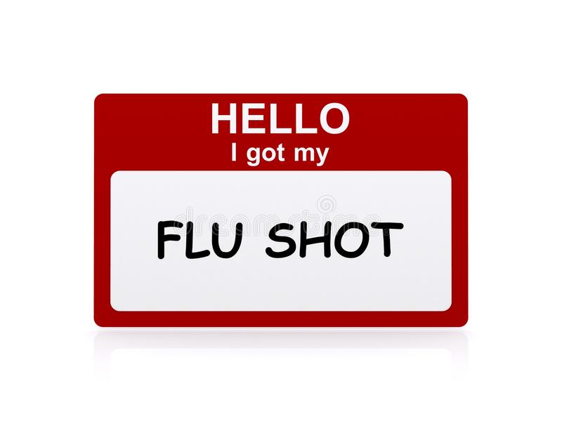 Vacuna contra la gripe ilustración del vector