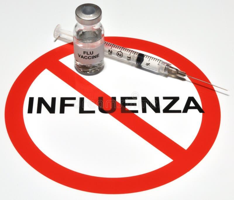 Vacuna de la gripe foto de archivo libre de regalías