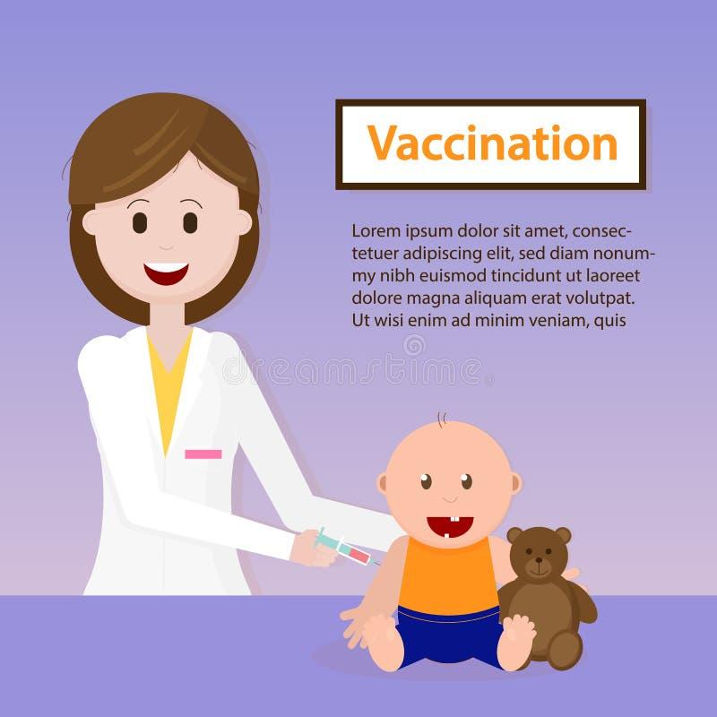 Vacunación del bebé Ilustración del vector libre illustration