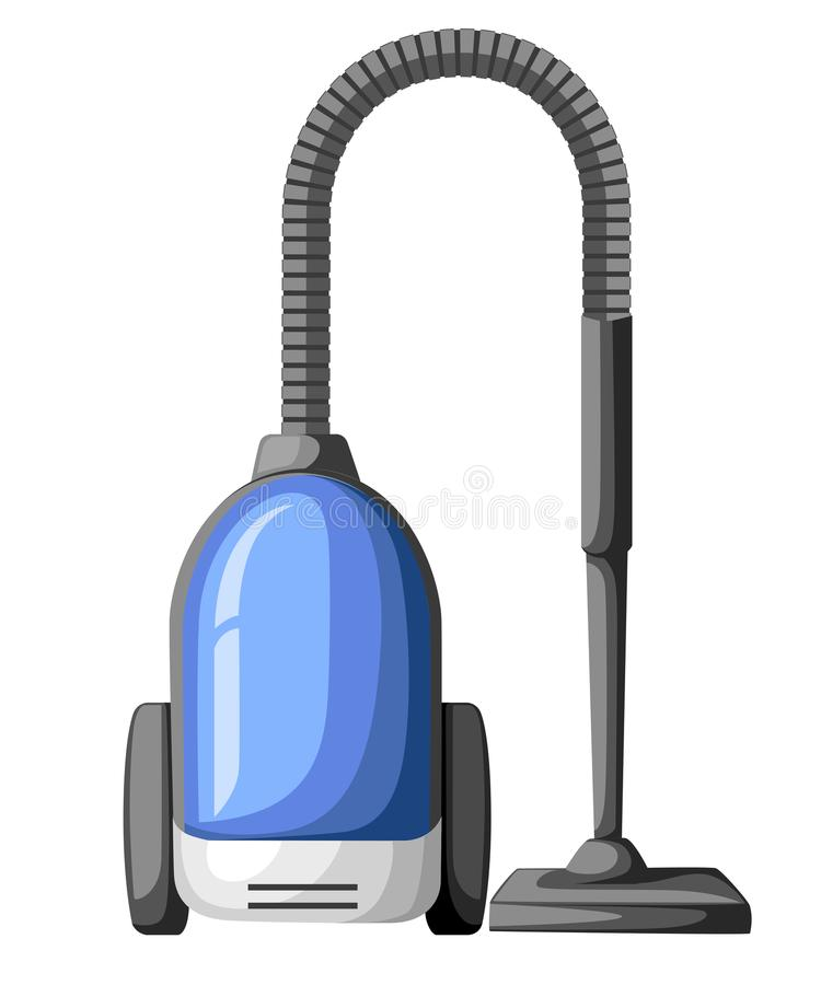 Vacuum cleaner icon isolated on white. Electrical vacuum cleaner hoover. Equipment for house cleaning tool device. Domestic cleani. Ng machine symbol sign in stock illustration