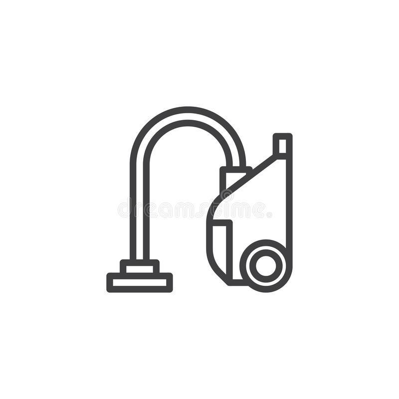 Vacuum cleaner line icon. Linear style sign for mobile concept and web design. hoover outline vector icon. Symbol, logo illustration. Pixel perfect vector vector illustration