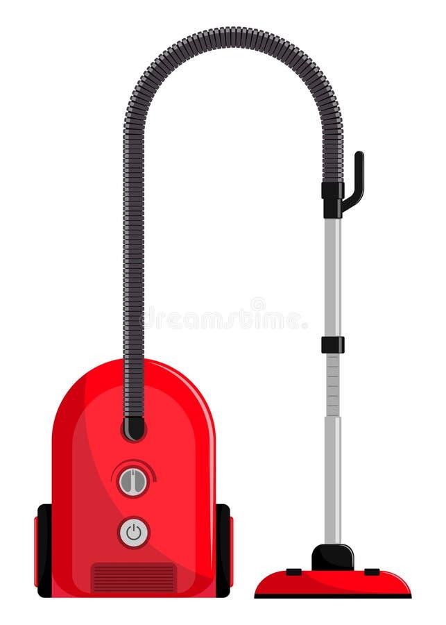 Vacuum cleaner. Modern hoover. Flat style illustration, . Vacuum cleaner. Modern hoover. Flat style illustration vector illustration