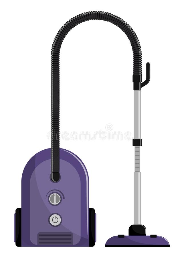 Vacuum cleaner. Modern hoover. Flat style illustration, isolated. Vacuum cleaner. Modern hoover. Flat style illustration, isolated stock illustration
