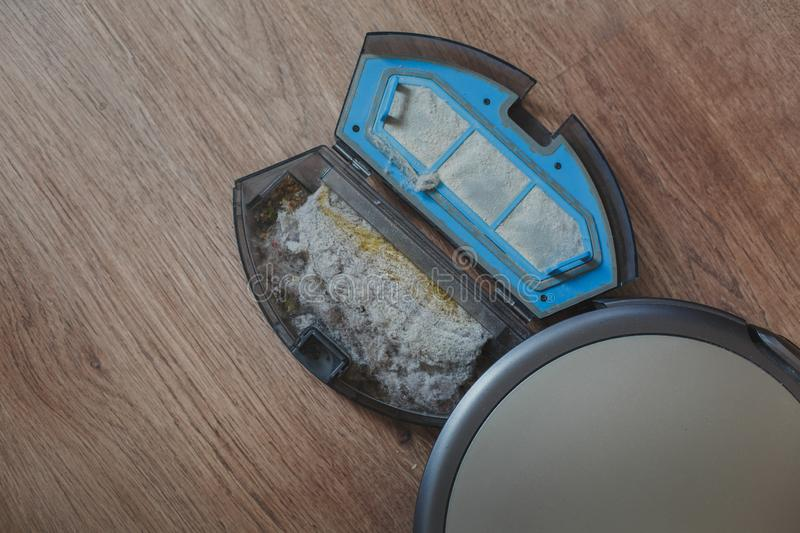 Vacuum cleaner robot stock photography