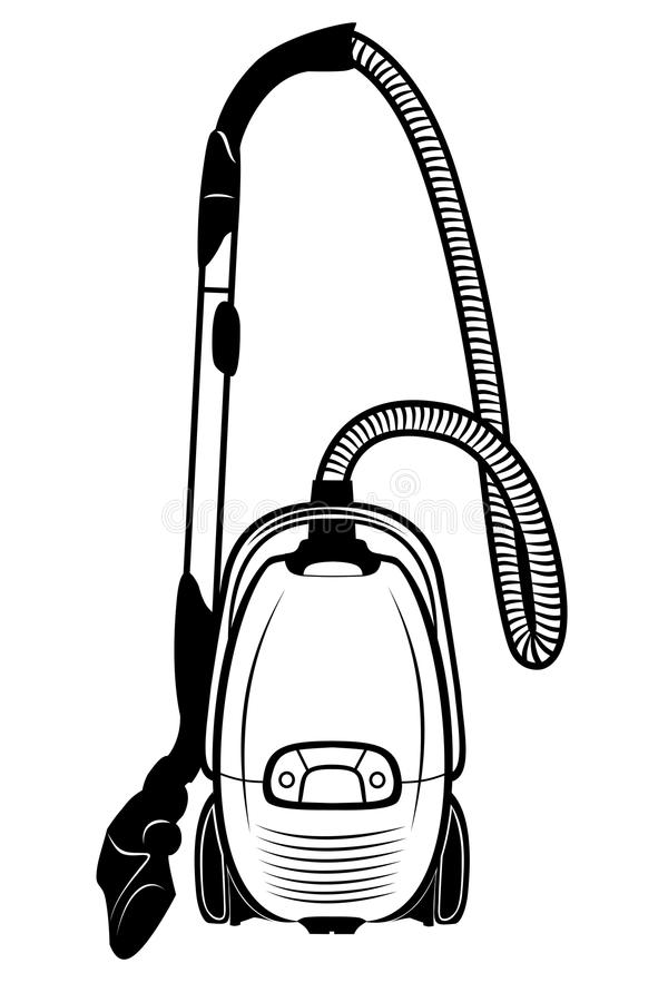 Vacuum cleaner. Vector illustration : Vacuum cleaner on a white background stock illustration