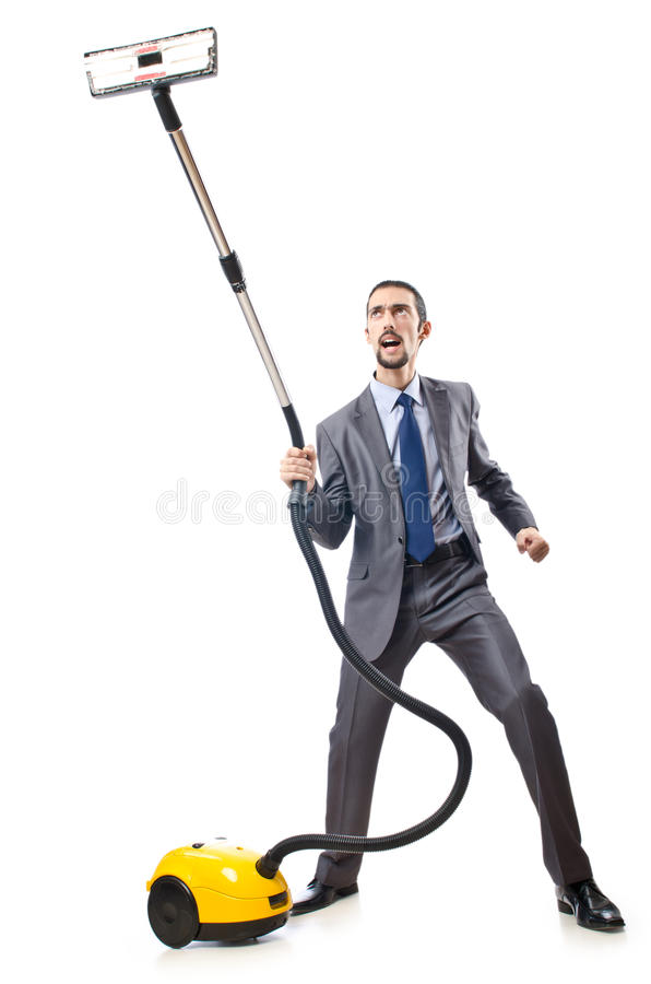 Download Vacuum Cleaning By Businessman Stock Photos - Image: 22992573