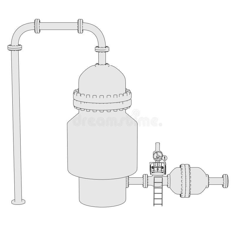 Download Vacuum Distillation Unit Stock Illustration Of Render