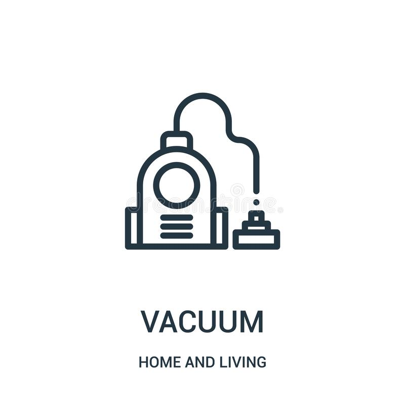 vacuum icon vector from home and living collection. Thin line vacuum outline icon vector illustration. Linear symbol for use on vector illustration
