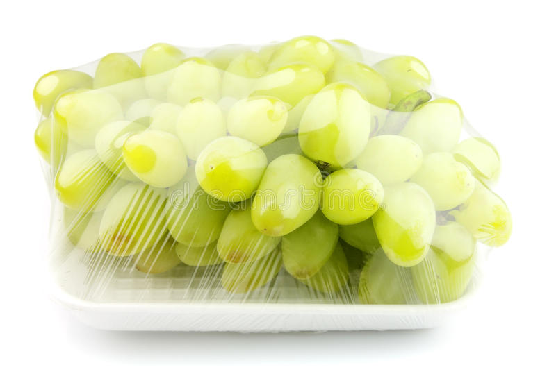 Vacuum packed sweet grapes royalty free stock photo