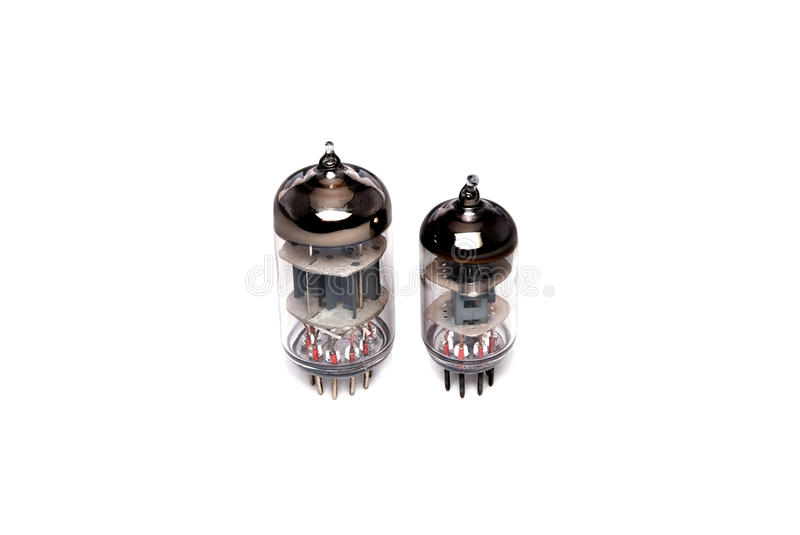 Vacuum tubes. Electronic vacuum-tubes with the glass corps of the different setting royalty free stock image
