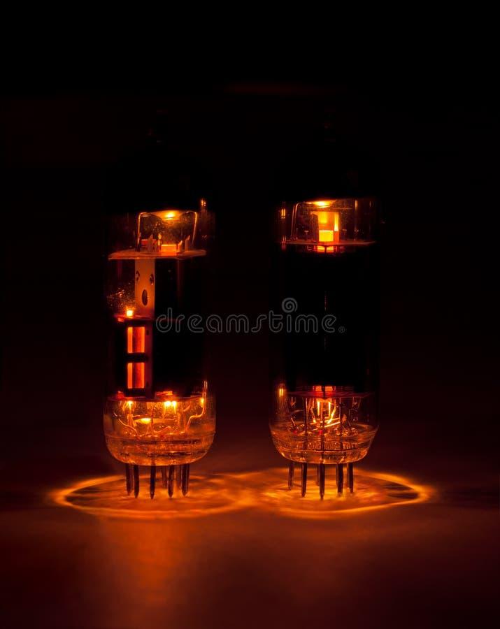 Vacuum tubes royalty free stock photos