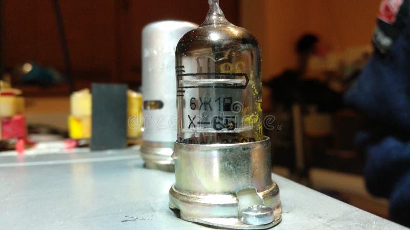 Vacuum tubes Russian 6z1p vintage 1965 stock image