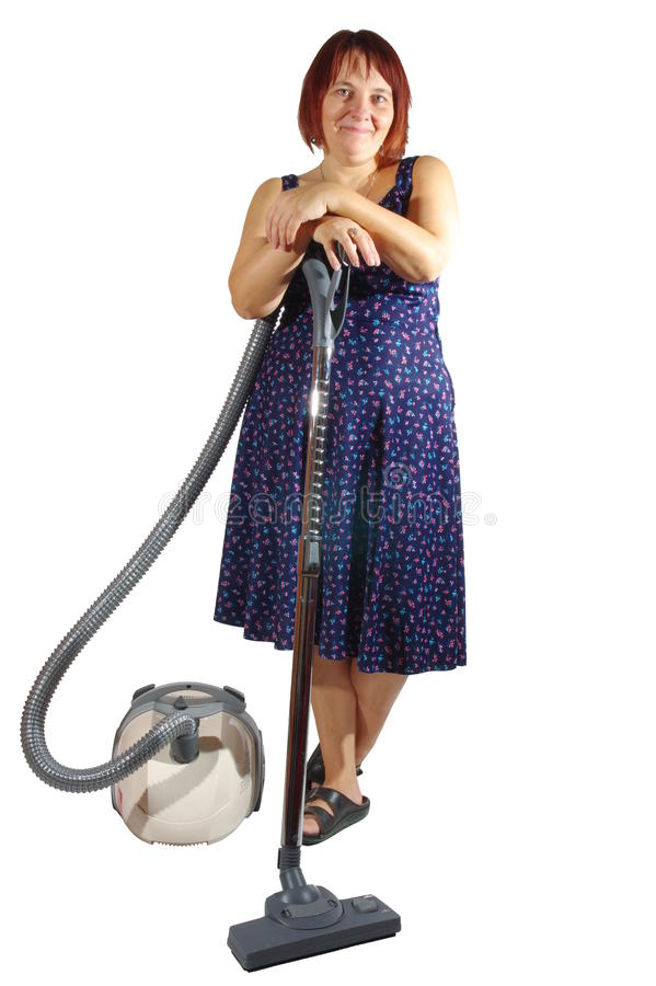 vacuuming imagen de archivo libre de regalías