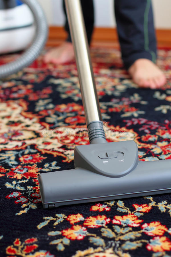 Free Vacuuming The Carpet Royalty Free Stock Images - 47501799
