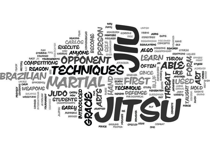 Vad är det Jiu Jitsu ordmolnet vektor illustrationer