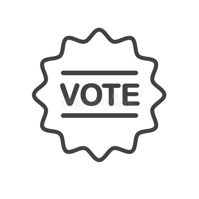 Vad är din åsikt? Ditt rösta räkningar! Översiktsvektorsymbol Emblem klistermärkedesign stock illustrationer