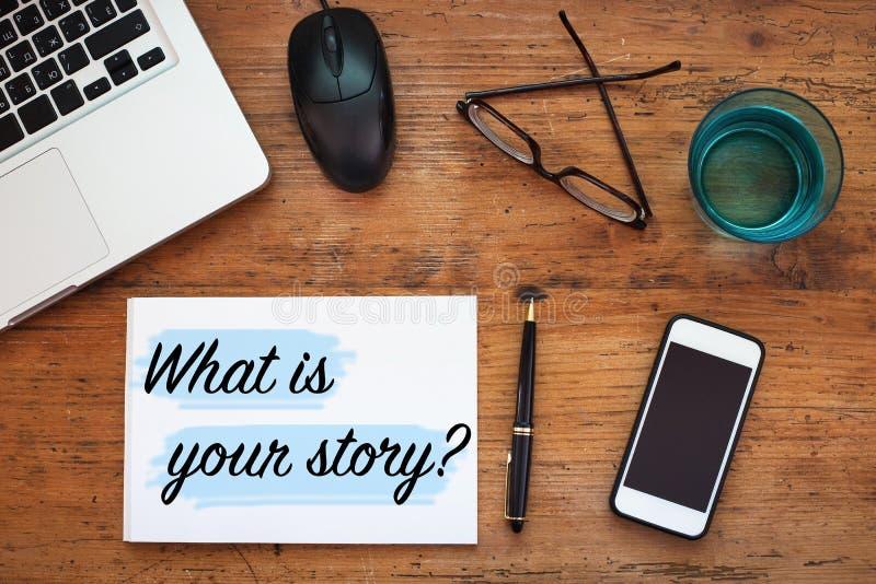 Vad är din berättelse royaltyfria bilder