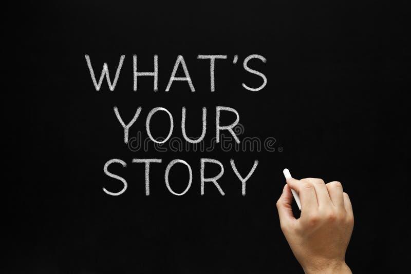 Vad är din berättelsesvart tavla royaltyfri bild
