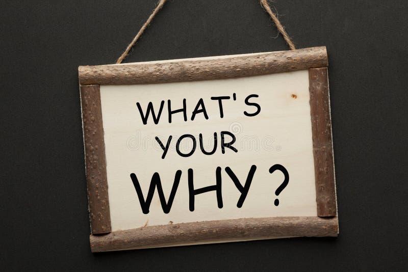 Vad är din därför frågan arkivfoton