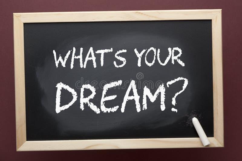 Vad är din dröm royaltyfria foton