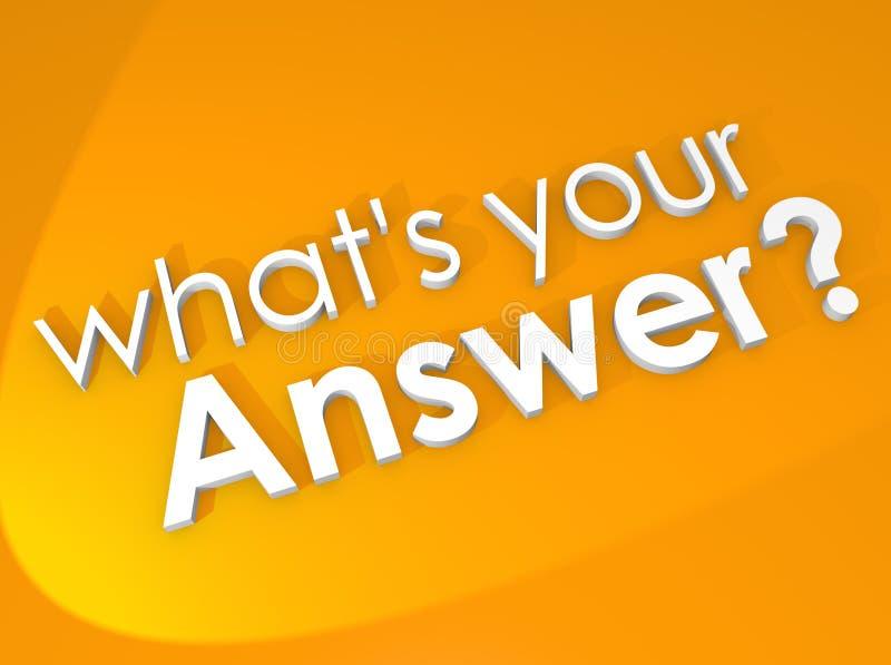 Vad är din fråga för återkoppling för svarssvarsåsikten royaltyfri illustrationer