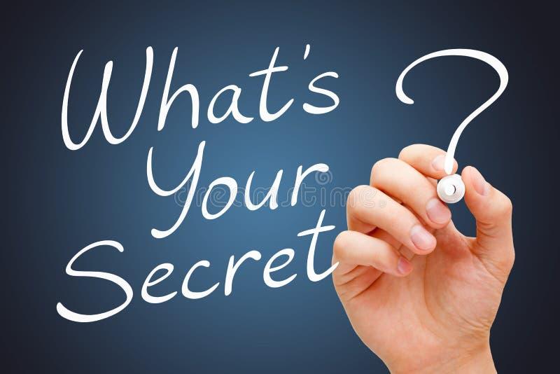 Vad är din hemlighet royaltyfria bilder