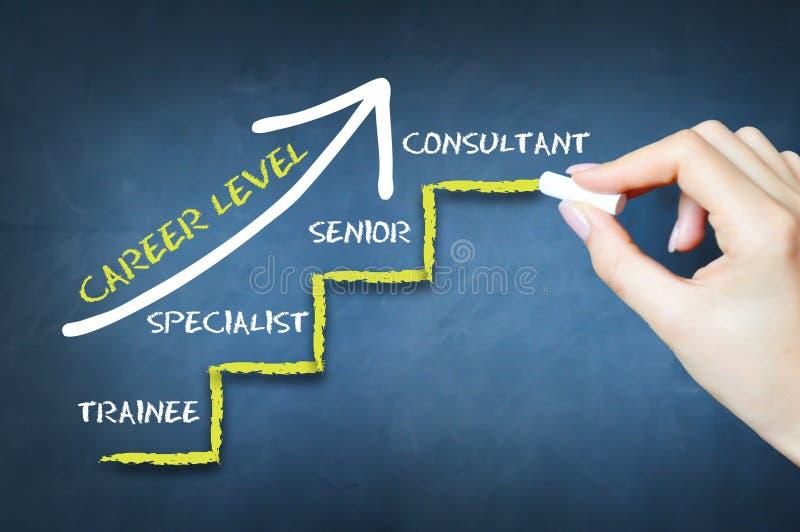 Vad är din karriärnivå eller att mäta, arrangerar din arbetserfarenhet royaltyfri bild