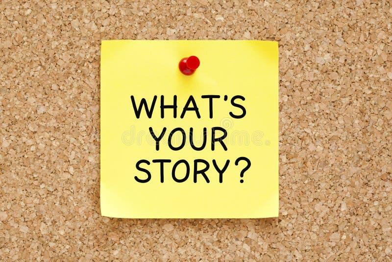 Vad är din klibbiga anmärkning för berättelsen royaltyfria foton